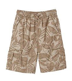 Ruff Hewn Boys' 8-20 Pull-On Cargo Shorts Tropical Print