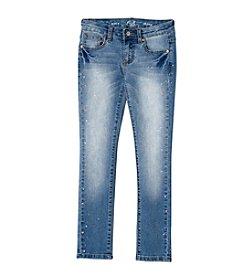 Earl Jean® Girls' 7-16 Splatter Skinny Jean