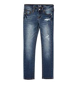 Earl Jean® Girls' 7-16 Rip and Repair Skinny Jean