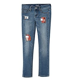 Earl Jean® Girls' 7-16 Vintage Patch Skinny Jean