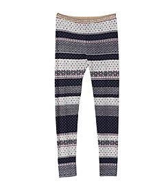 Jessica Simpson Girls' 7-16 Striped Glimmer Leggings