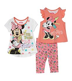 Disney® Girls' 2T-6X 2-Piece Minnie Ice Cream Tee And Leggings Set