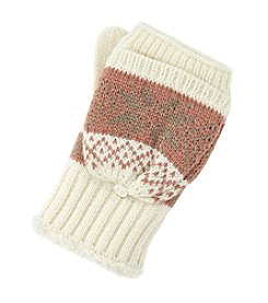 Isotoner Signature® Diamond Snowflake Flip Gloves