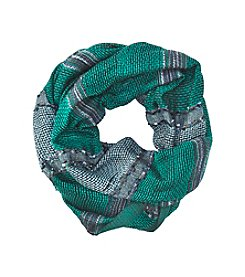 Basha Lurex Flag Wide Stripe Loop Scarf