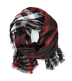 Collection 18 Classic Plaid Square Scarf
