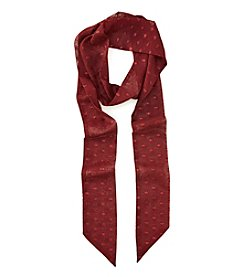 Collection 18 Solid Glitter Dot Skinny Scarf