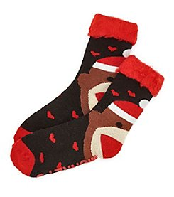 Legale® Sock Monkey Slipper Socks
