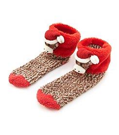Legale® Fur Cuff Sock Monkey Socks