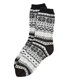Legale® Fairisle Cabin Socks With Grip