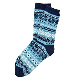 Legale® Fairisle Cabin Socks With Grip