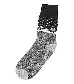 Legale® Snowflake Boarder Slipper Socks