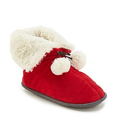 Cuddl Duds® Velour Snuggle Up Slippers