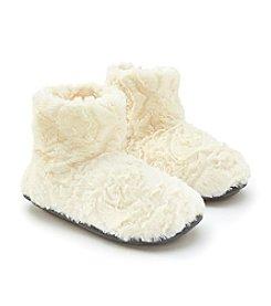 Cuddl Duds® Notch Fur Booties