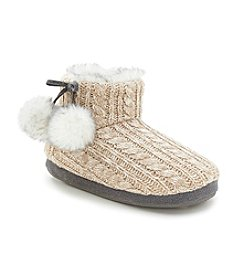 Cuddl Duds® Cable Knit Slippers