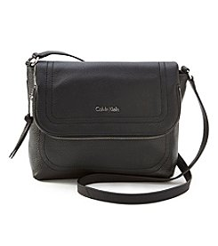 Calvin Klein Pebble Leather Messenger