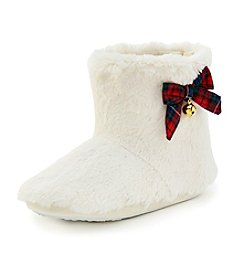 Collection 18 Jingle Bells Shearling Bootie Slippers