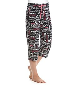 Relativity® Wordscript Print Knit Capri