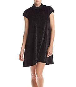 Chelsea & Theodore® Cap Sleeve Mock Neck Dress