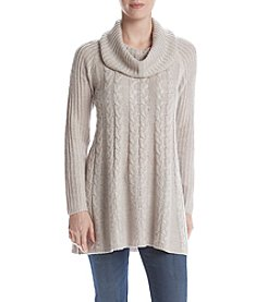 Cupio Long Sleeve Cable Swing Sweater