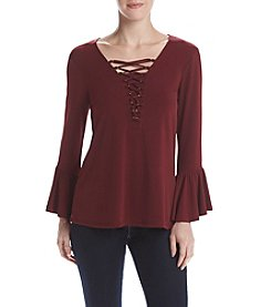 Cupio Front Lace Up Top