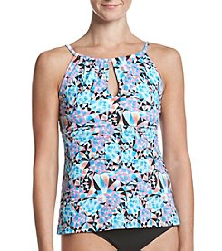 Relativity® High Neck Keyhole Tankini