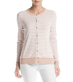 Calvin Klein Striped Button Front Cardigan