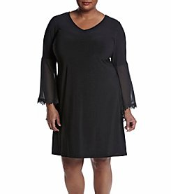 Prelude® Plus Size V-Neck Trapeze Dress