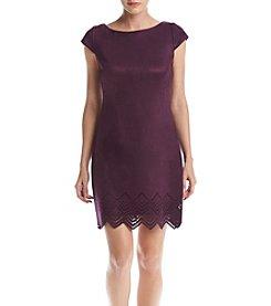 Vince Camuto® Faux Suede Cutout Hem Dress