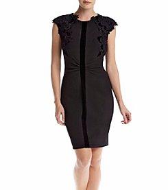 Ivanka Trump® Embroidered Cutout Sheath Dress