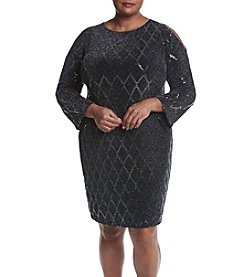 Jessica Howard® Plus Size Cold Shoulder Dress