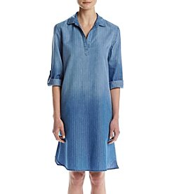 Luxology Railroad Stripe Shirt Dress