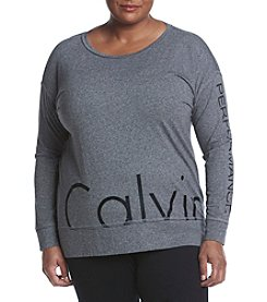 Calvin Klein Performance Plus Size Logo Oversized Tee