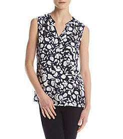 Nine West® Sleeveless Button Down Blouse