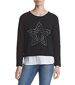 Marc New York Performance Embellished Layered Look Pullover