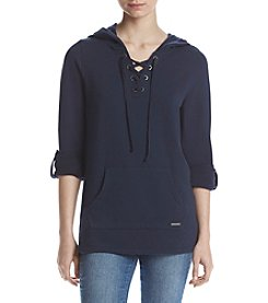 Marc New York Performance Roll Sleeve Hooded Pullover