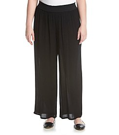 AGB® Plus Size Wide Leg Knit Pants