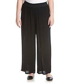 AGB® Plus Size Wide Leg Knit Pants