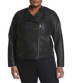 Ruff Hewn Plus Size Quilted Shoulder Jacket