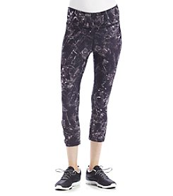 Exertek® Petites' Printed Lattice Crop Pants