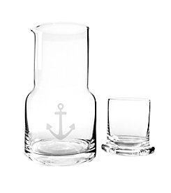 Cathy's Concepts Anchor Bedside Water Carafe & Glass Set