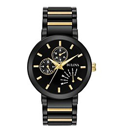 Bulova® Men's Black IP Stainless Steel Watch