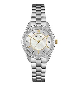 Bulova® Women's Crystal Stainless Steel Watch