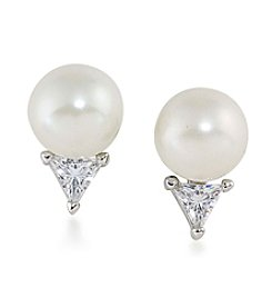 Lauren Ralph Lauren® Pearl and Triangle Earrings