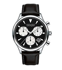 Movado™ Heritage Series Men's Black and White Triple Chronograph Watch