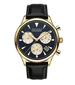 Movado™ Heritage Series Men's Black Triple Chronograph Watch
