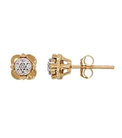 0.10 ct. t.w. Diamond Earrings In 10K Yellow Gold