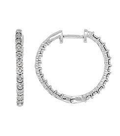 0.06 ct. t.w. Diamond Earrings In Sterling Silver