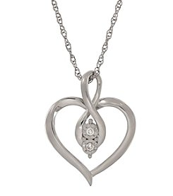 0.04 ct. t.w. Diamond Heart Pendant In Sterling Silver