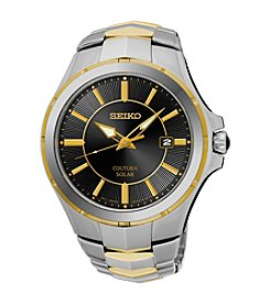 Seiko Men's Courtura Solar Stainless Steel Two Tone Watch