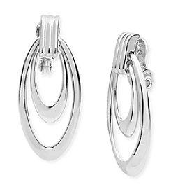Anne Klein® Drop Orbital Clip Earrings